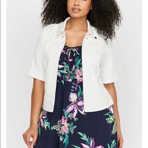 Addition Elle White Crop Jacket